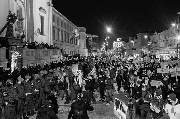 In October 2020, outraged by a Polish court's decision to ban nearly all abortions, more than 100,000 demonstrators marched in the country's largest protest since the fall of communism.