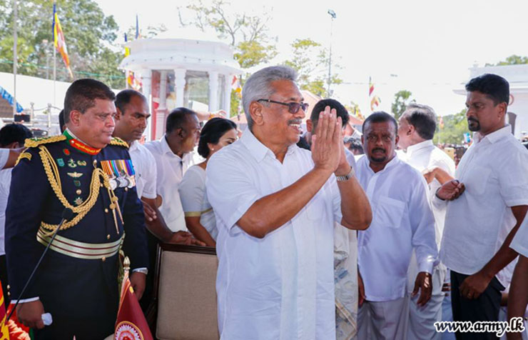 Among those accused of wartime atrocities are President Gotabaya Rajapaksa (right) and the head of the COVID-19 prevention task force in Sri Lanka, Army Commander Shavendra Silva.