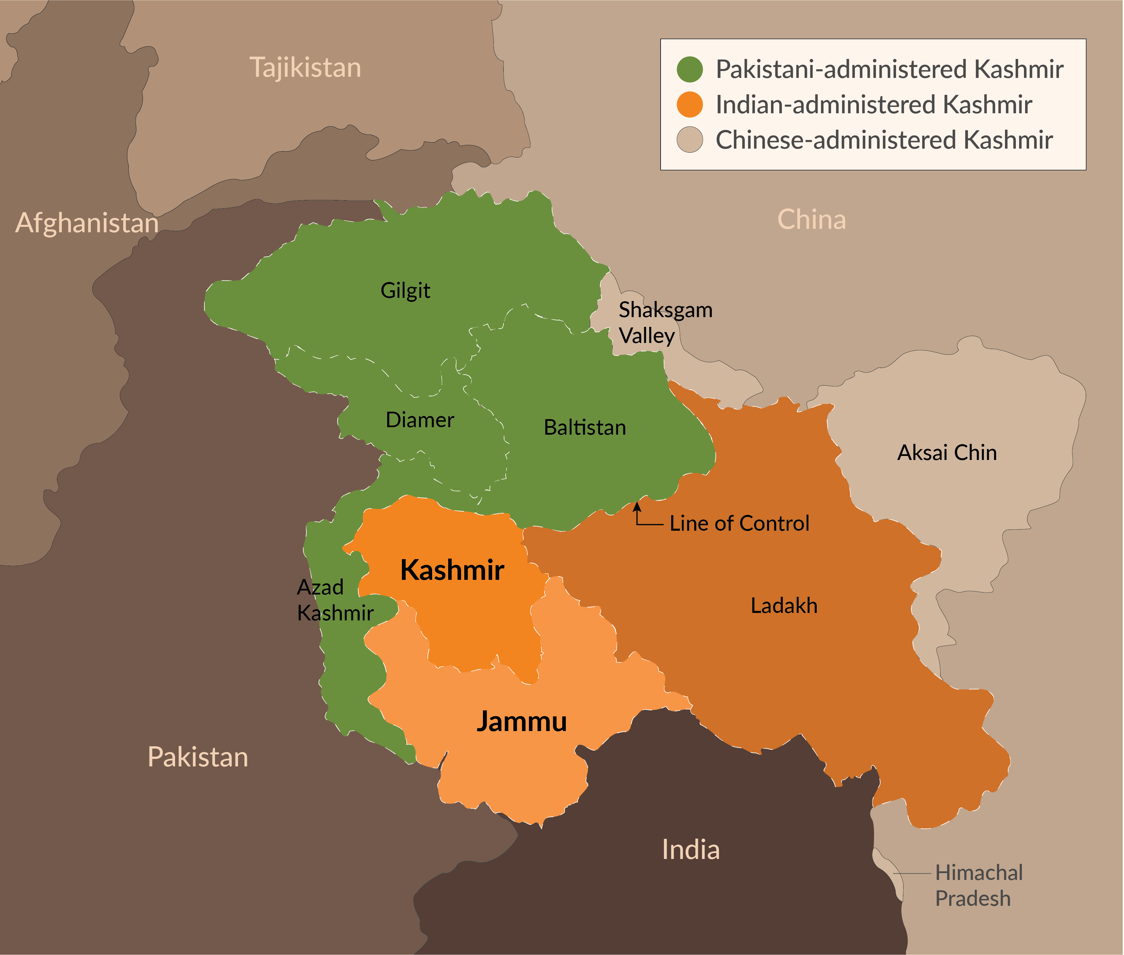 After the 1947 partition of British India, Jammu and Kashmir were one of many states given the choice to be part of either India or Pakistan.